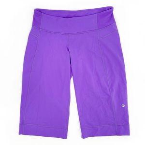 Lululemon Purple Capri Workout Purple Medium SZ 6